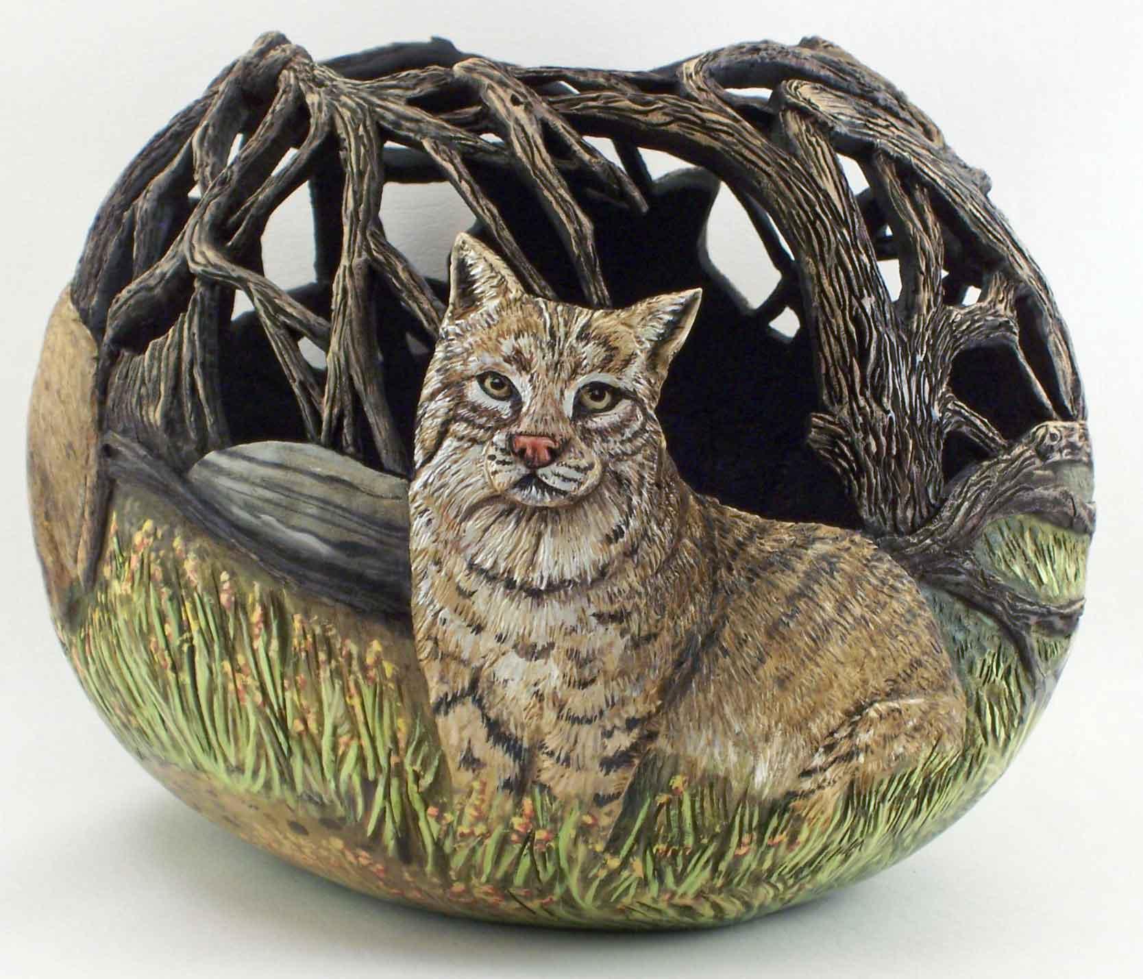 >>>>> Figuras en papel mache .... Bobcat1-WEB