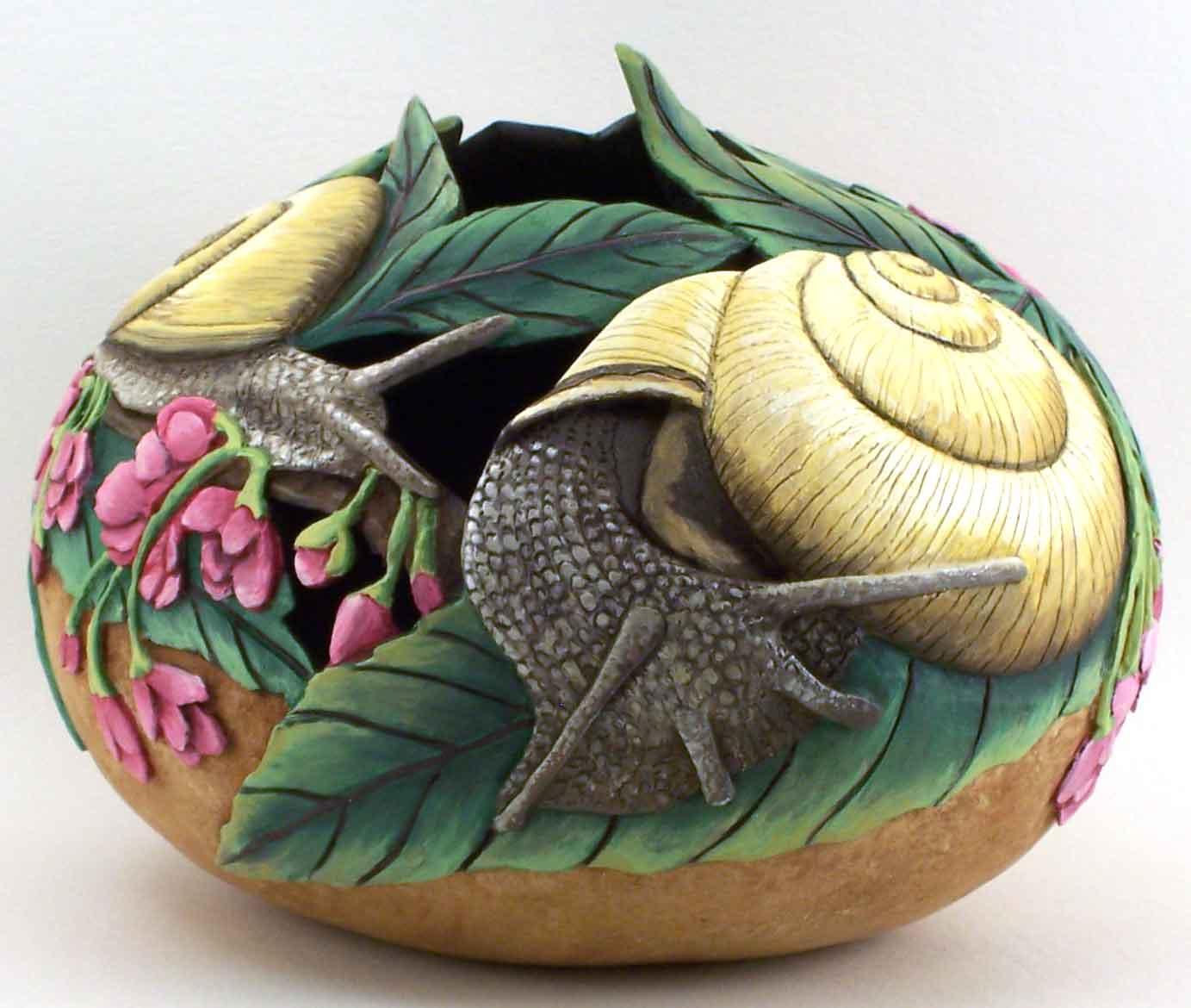 >>>>> Figuras en papel mache .... Snail-WEB