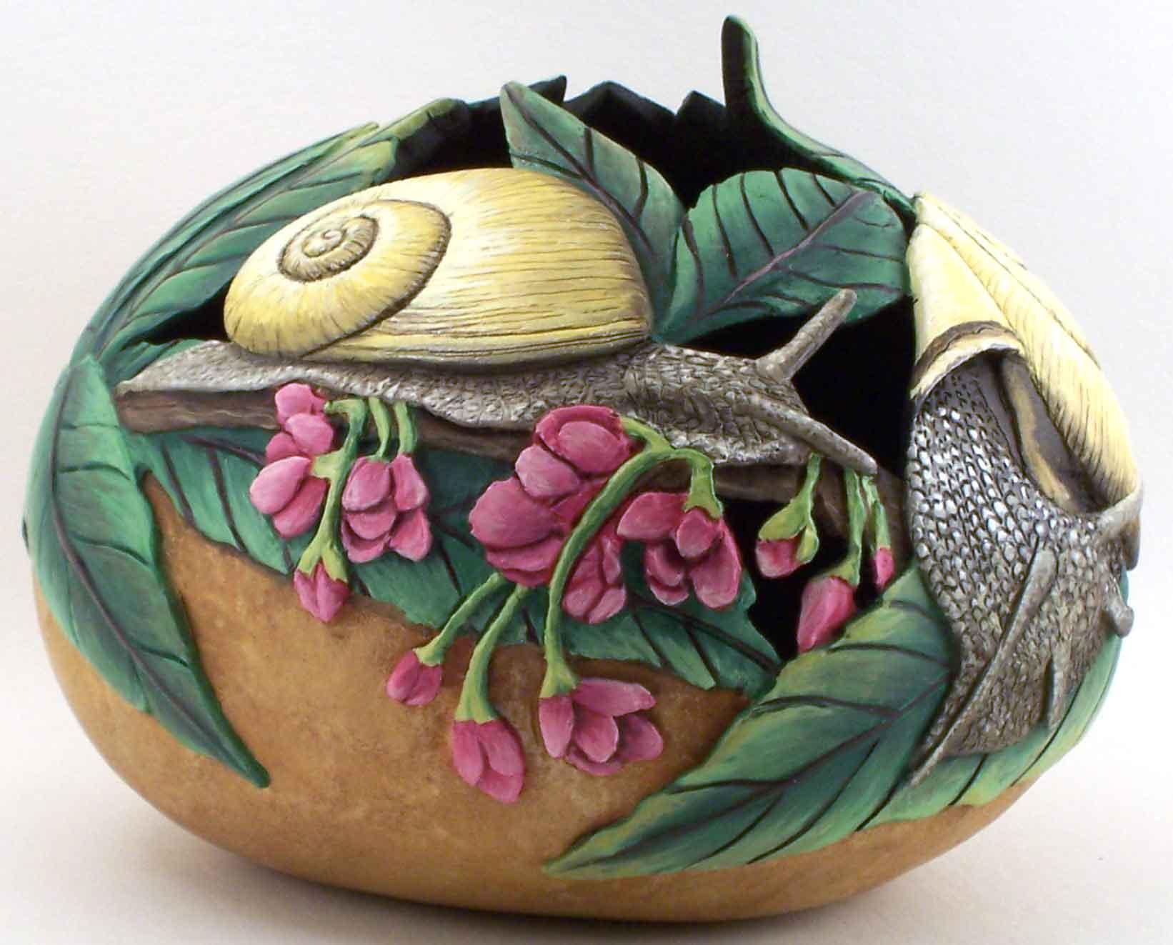 >>>>> Figuras en papel mache .... Snail2-WEB