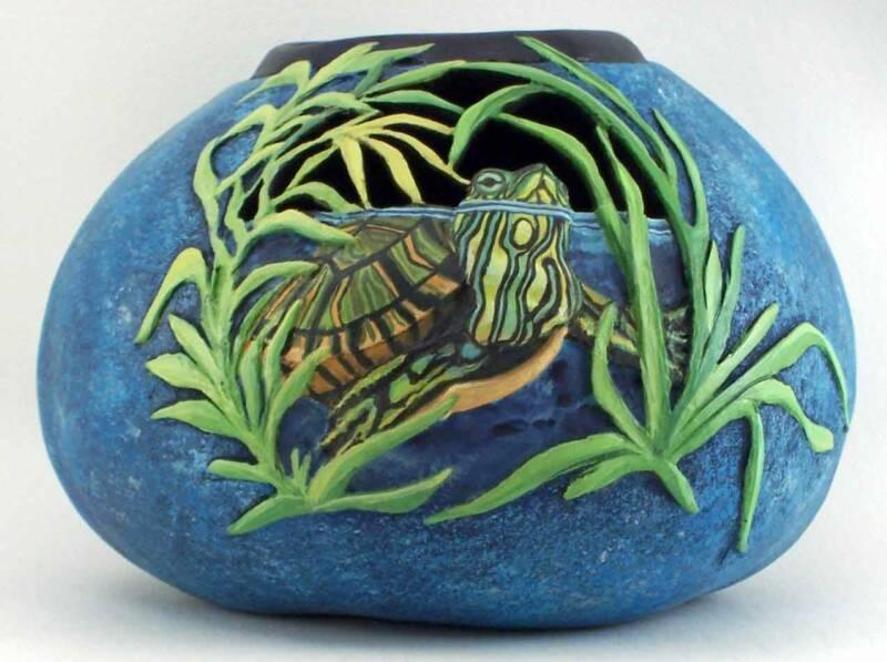 >>>>> Figuras en papel mache .... Turtle-WEB